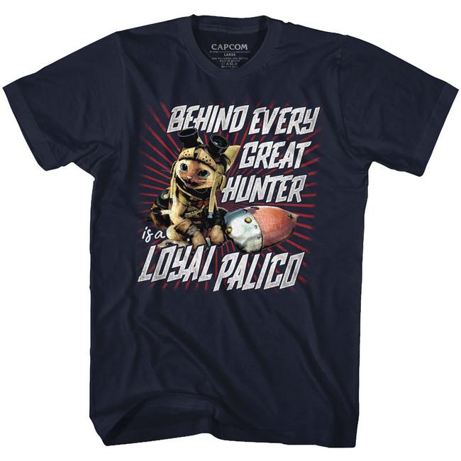 Monster Hunter Loyal Palico Navy Adult T-Shirt