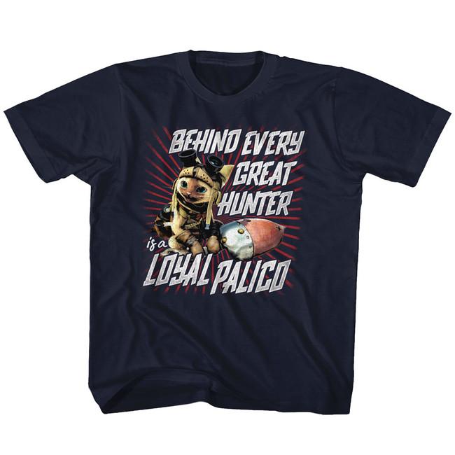 Monster Hunter Loyal Palico Navy Youth T-Shirt