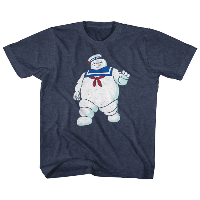 The Real Ghostbusters Mr Stay Puft Vintage Navy Children's T-Shirt