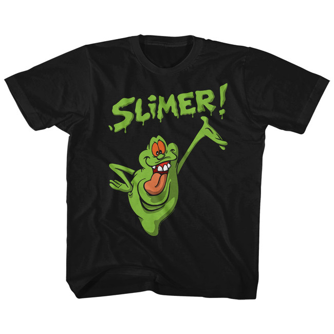 The Real Ghostbusters Slimer! Black Children's T-Shirt