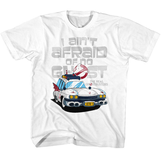 The Real Ghostbusters Aint Afraid White Children's T-Shirt
