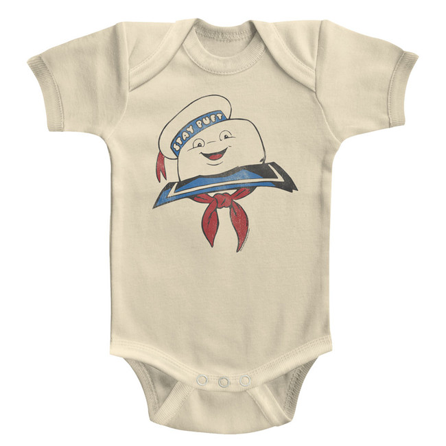 The Real Ghostbusters Stay Puft Head Natural Infant Baby Onesie