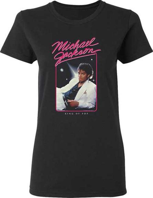 Michael Jackson King Of Pop Junior Women's T-Shirt