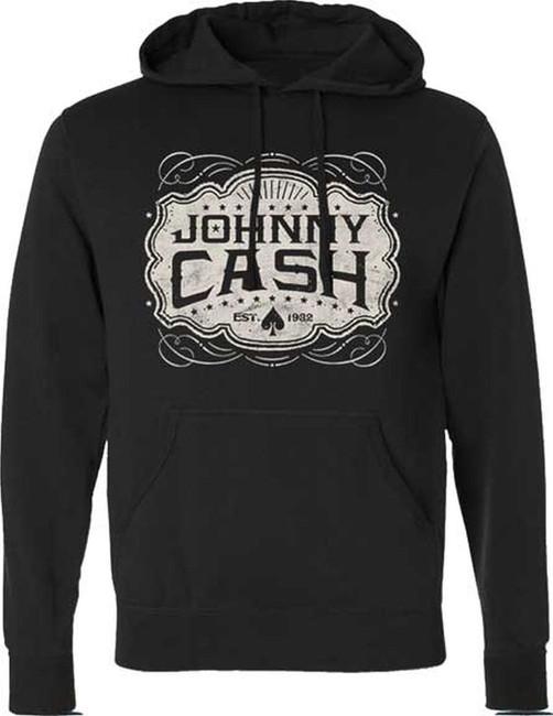 Johnny Cash Emblem Pullover Hoodie Sweatshirt