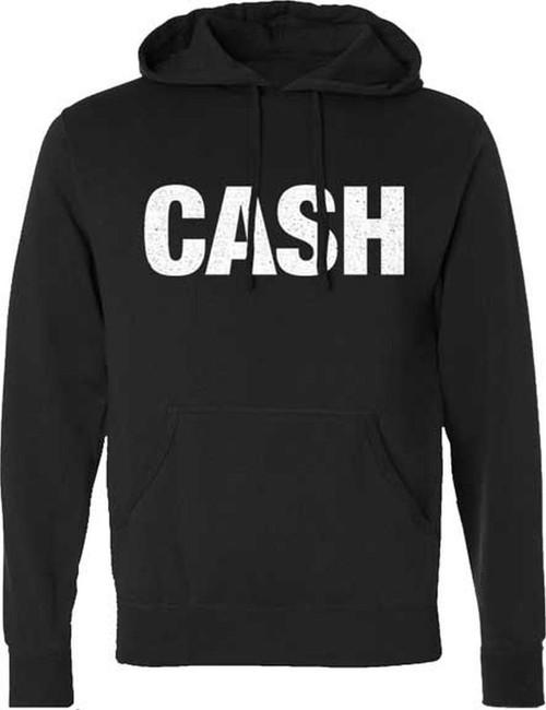 Johnny Cash CASH Logo Pullover Hoodie Sweatshirt