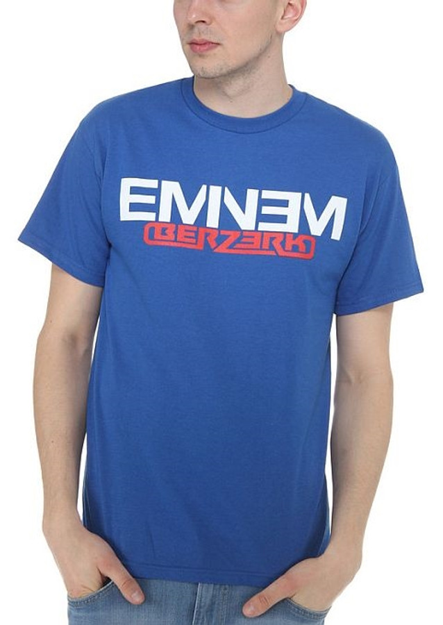 Eminem Royal Blue Berzerk Logo T-Shirt