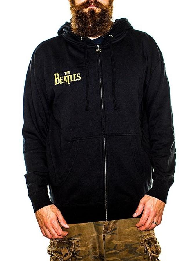 The Beatles Gold Sgt. Peppers Logo Zip Hoodie Sweatshirt