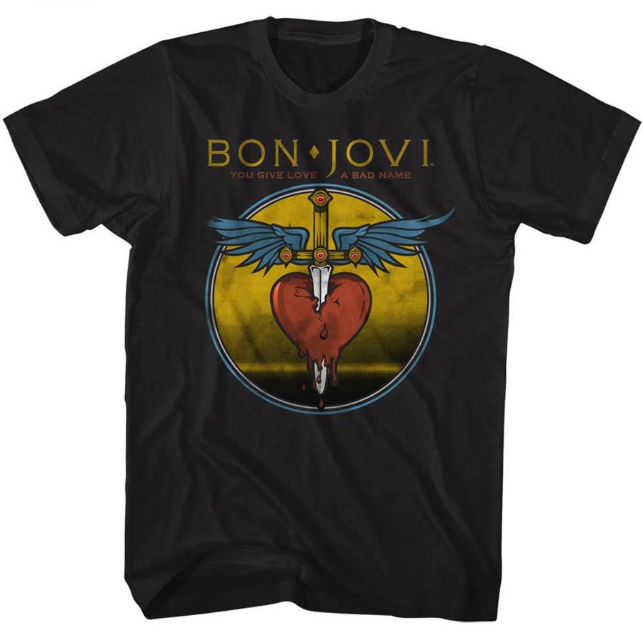Bon Jovi Bad Name Black Adult T-Shirt