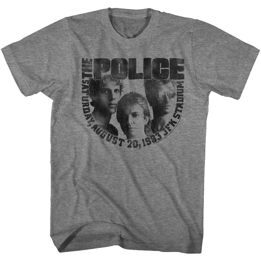 The Police August 20th Heather Adult T-Shirt
