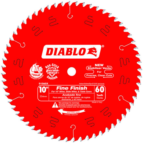 Freud Diablo D1060X 10 in. x 60-Tooth Fine Finish Saw Blade