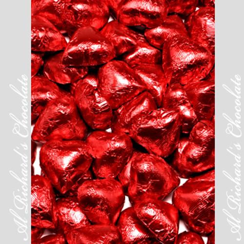 Milk Chocolate Foiled Hearts
