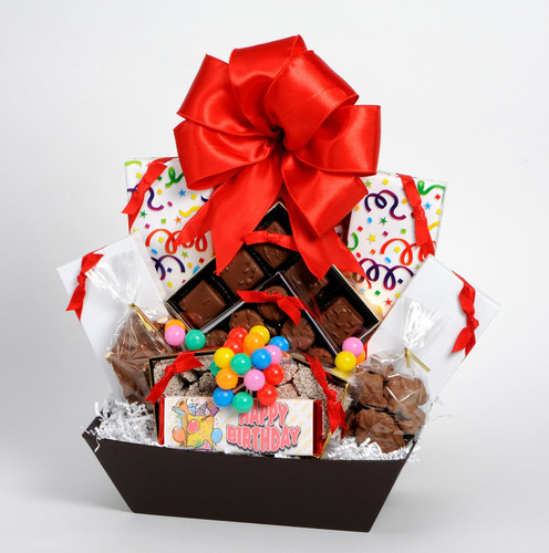 Happy Birthday Basket Large