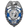 Custom North Carolina Badge Decal