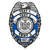 Custom New York Badge Decal