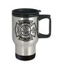 Custom Black Maltese Cross Stainless Steel Travel Mug