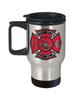 Custom Full Color Maltese Cross Stainless Steel Travel Mug