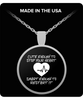 Cute Enough To Stop Your Heart Round Silver Pendant Necklace