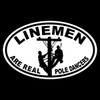 Linemen Are Real Pole Dancers Oval Decal