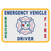 North Carolina Emergency Vehicle Driver Decal
