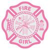 Fire Girl Maltese Cross Decal