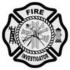 Fire Investigator Maltese Cross Decal