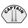 Captain with Vertical Bugles Helmet Front Decal