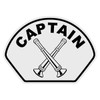 Captain with Crossed Bugles Helmet Front Decal
