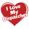 I Love My Dispatcher Full Heart Decal