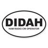 DIDAH (Ham Radio CW Operator) Oval Decal
