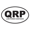 QRP (Low Power Ham Radio) Oval Decal