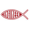 Engineer Christian Fish Decal