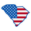 US Flag on SC Outline Decal