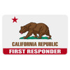 California First Responder Flag Decal
