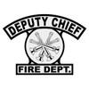 Deputy Chief Shield Rocker Crest Frontal
