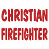 Christian Firefighter Text Decal