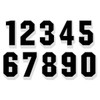 Black on White Reflective Shadow Letters & Numbers