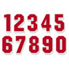 Red on White Reflective Shadow Letters & Numbers