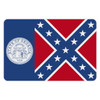 Old Georgia Flag Reflective Decal