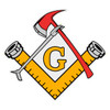 Masonic Firefighter Tools Decal
