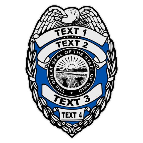 Custom Ohio Badge Decal