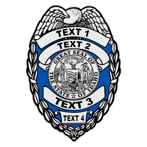 Custom Idaho Badge Decal