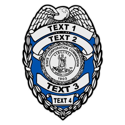 Custom Virginia Badge Decal