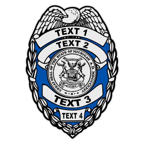 Custom Michigan Badge Decal
