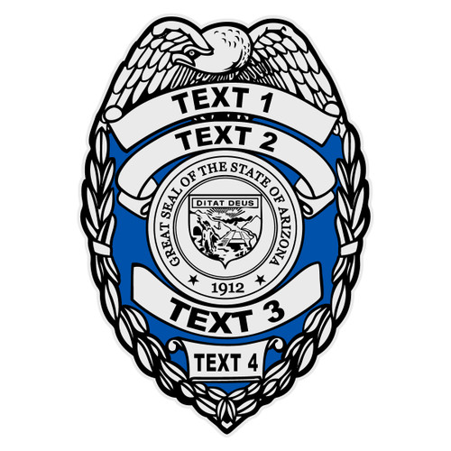 Custom Arizona Badge Decal