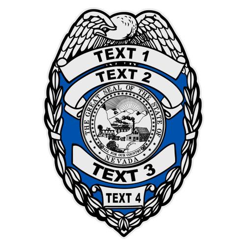 Custom Nevada Badge Decal