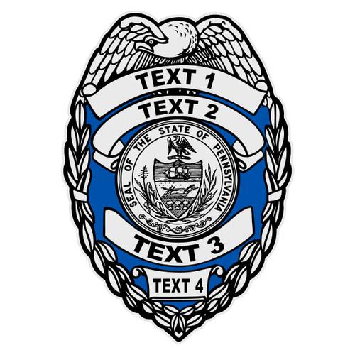 Custom Pennsylvania Badge Decal