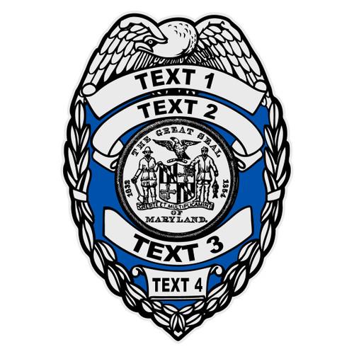 Custom Maryland Badge Decal