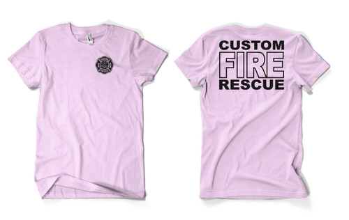 Custom Pink Fire Rescue Duty Shirt