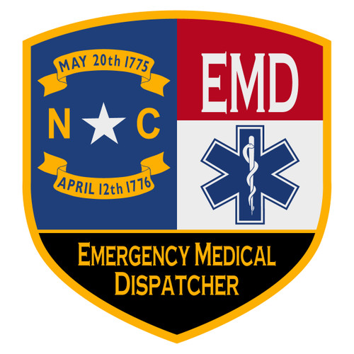 NC Emergency Medical Dispatcher Certified Decal