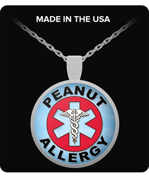 Peanut Allergy Medica Charm Necklace